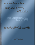 American Perspective: History and Philosophy of Education